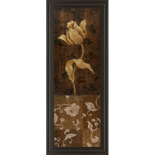 Classy Art Wholesalers Golden Tulip I Framed Painting Print by Classy Art Wholesalers