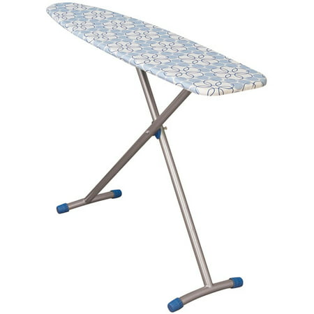 Household Essentials Euro Arch T-Leg Ironing Board, Satin Silver