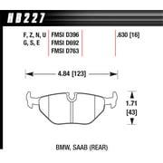 Hawk BMW 3/5/7 Series / M3 / Z3 / Z4 Race Blue 9012 Rear Brake Pads