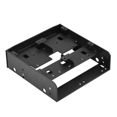 OTVIAP 2.5  / 3.5  HDD / SSD to 5.25  Floppy-Drive Bay Computer Mounting Bracket , 2.5 hard drive bracket, hard drive bracket Features:This plastic, floppy-drive adapter bracket lets you install 2.5  / 3.5  floppy drives into a 5.25  bay.Compatible with standard 5.25  bay of PC.Fits 6 x 2.5  HDD / SSD or 2 x 2.5  HDD / SSD + 1 x 3.5  HDD.Supports 7mm - 15mm 2.5  HDD.Included mounting screws.Comes with a baffle. Multifunctional combination to improve the use value of PC drive bay.Specifications:Brand: OImasterModel: MR-8802Condition: 100% brand new and high qualityColor: BlackMaterial: Engineering plasticsSupported disk type: 2.5  HDD / SSD & 3.5  HDDDevice bay: Fit 5.25  bay of PCPackage weight: 160gPackage List:1 x 5.25  to 2.5  / 3.5  Floppy-drive Bracket1 x User Manual1 x Screw Pack