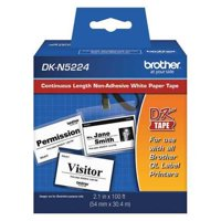 Brother Label Tape Cartridge,100ftx2.10in DKN5224, Black/White