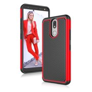 """LG Xpression Plus 2 Cases, LG K40 Phone Case, LG X4 2019 Cute Case, Njjex Shock Absorbing Ruugged Rubber Hard Plastic Phone Case for LG Solo LTE / Harmony 3 / LMX420 5.7"""" -Red"""