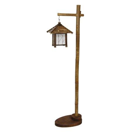 Oriental Furniture Yama Bamboo Lantern Stand - Oriental Lanterns