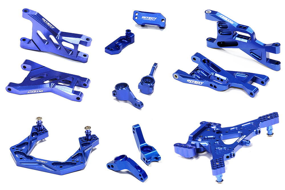 Integy C26460BLUE Billet Machined Suspension Kit: Traxxas 1 10 Bandit by Integy