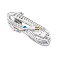 Pt Ho Wah Genting 09413ME Extension Cord, 16/2 SPT-2 White Polarized Cube Tap, 12-Ft.