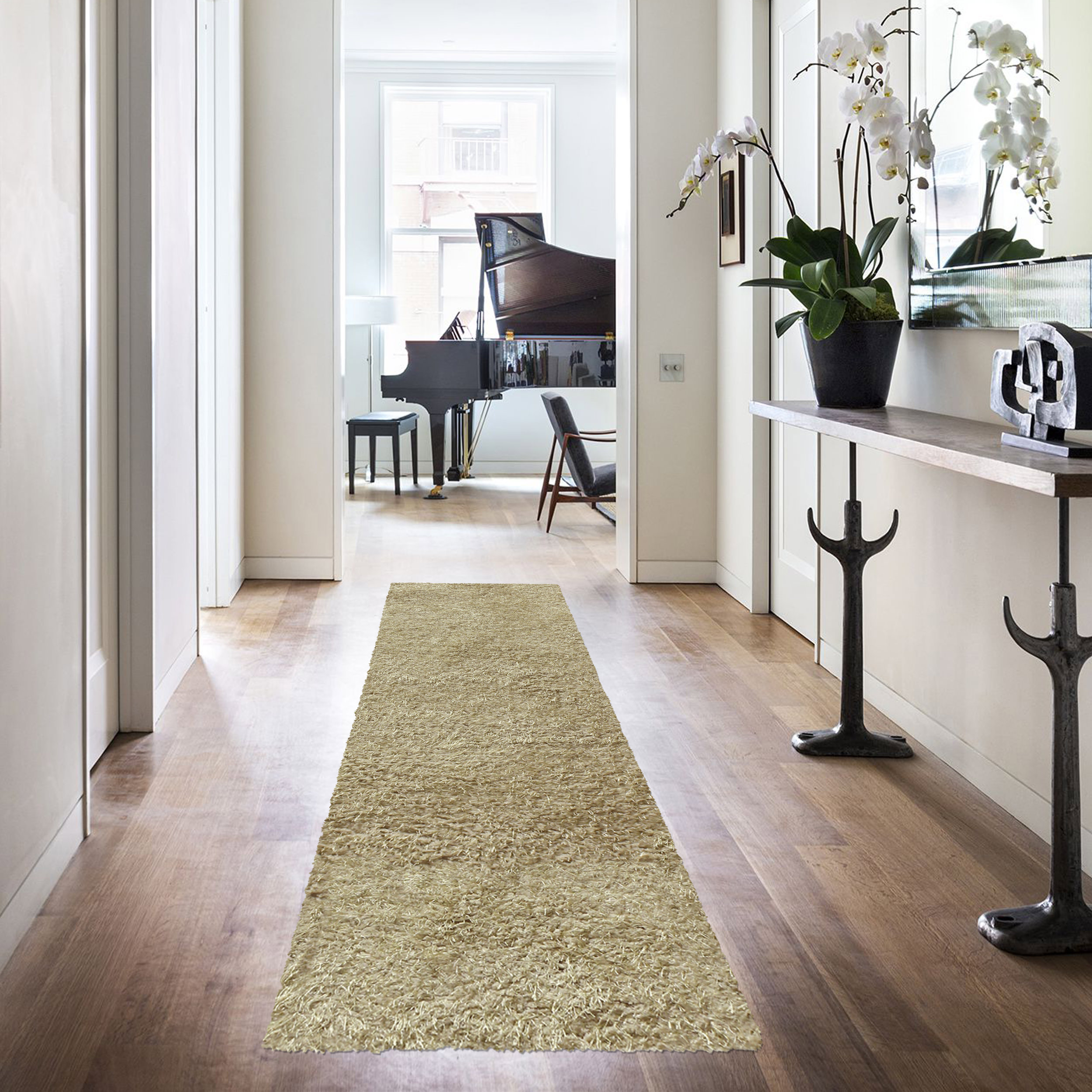 Superior Elegant and Soft Hand Woven Solid Shag Area Rug