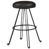 """Bowery Hill 30"""" Backless Bar Stool in Dark Gray and Dark Brown"""