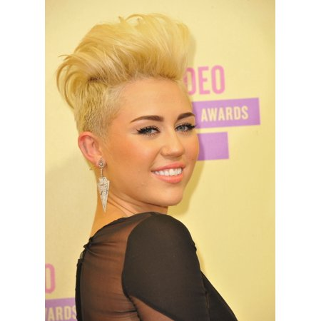 Miley Cyrus At Arrivals For 2012 Mtv Video Music Awards Vma   Arrivals Rolled Canvas Art     8 X 10