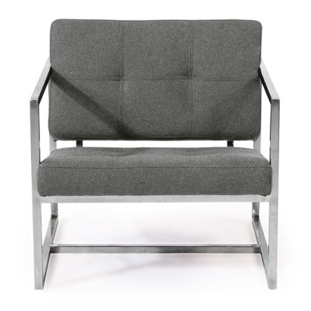Excellent Kardiel Modern 1950 Stainless Steel Tweed Fabric Cube Chair Machost Co Dining Chair Design Ideas Machostcouk