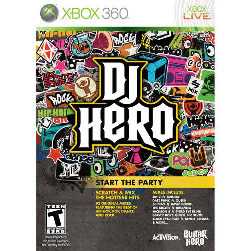 DJ Hero Game Only (Xbox 360) Used by Ubisoft Leamington