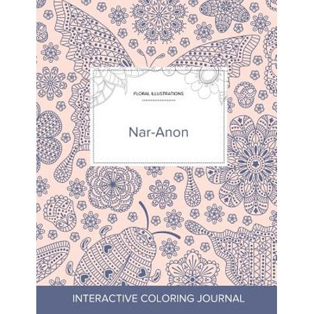 Adult Coloring Journal : Nar-Anon (Floral Illustrations, Ladybug)