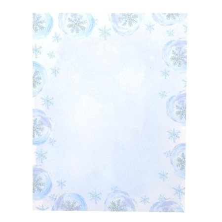 Gartner Studios  Blue Snowflake Blue and White Paper Holiday Stationery (Case of 80)](Snowflake Paper)