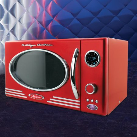 Nostalgia Retro Series 0.9 CF Microwave Oven in Red