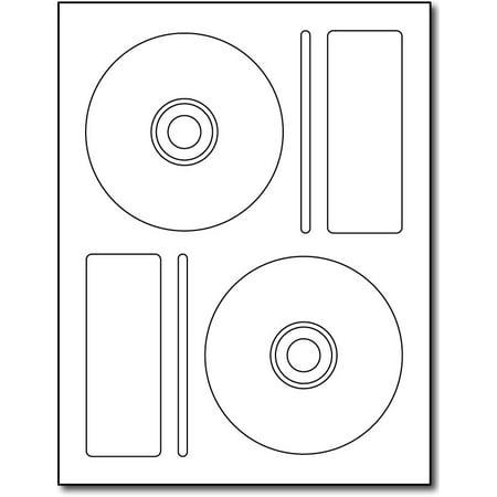 2up Memorex®-Style CD Labels - 20 Sheets / 40 Labels