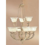 Victorian II 9-Light Chandelier (Satin Bronze - Crystalique)