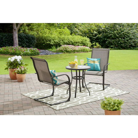 Mainstays Bristol Springs 3-Piece Outdoor Bistro Set