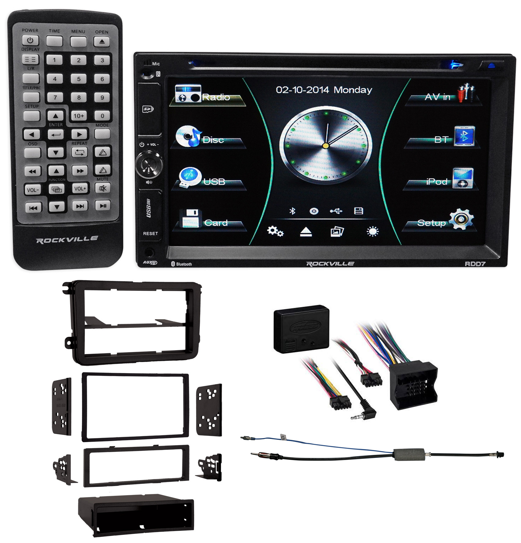 DVD/iPhone/Android Bluetooth Receiver Stereo For 2006-2009 Volkswagen Rabbit VW
