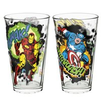 Marvel Comics Thor, Captain America, Iron Man & Hulk Pint Glasses 16 oz.