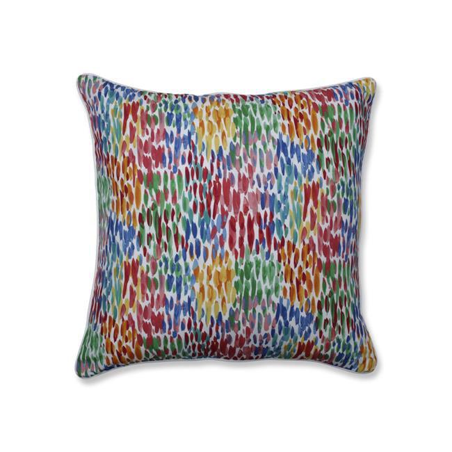 Pillow Perfect 621838 25 in. Outdoor & Indoor Make It Rain Zinnia Floor Pillow, Blue - image 1 of 1
