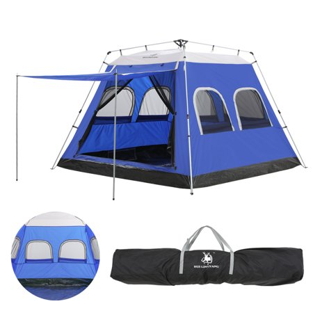 purchase cheap 924d2 a31cc 4/5/6 Person Winter Family Easy Up Camping Tent Cabin Dome with Awning 6  People Instant Setup Tents,iClover [6 Mesh Window] Automatic Pop Up Big ...