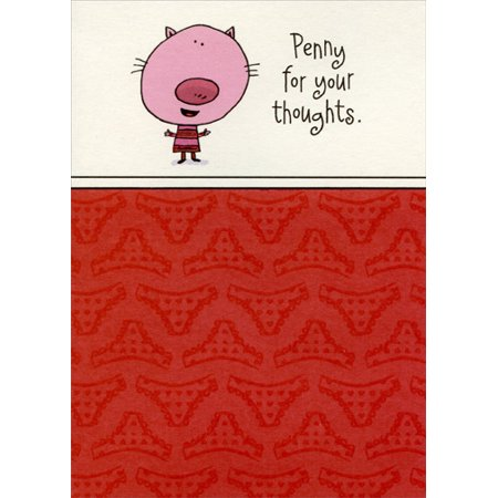 Designer Greetings Penny for your thoughts: Wife Funny Valentine's Day