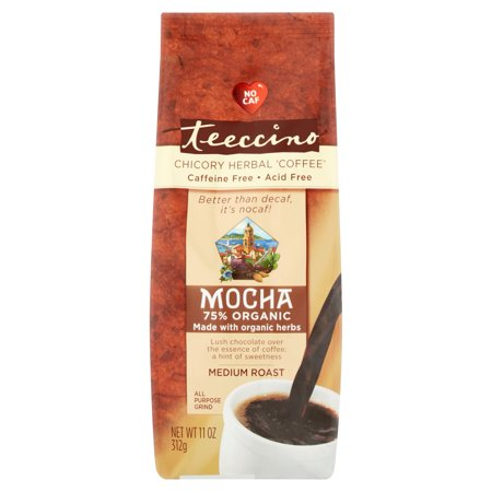 Teeccino Mocha Medium Roast Chicory Herbal Coffee, 11 oz
