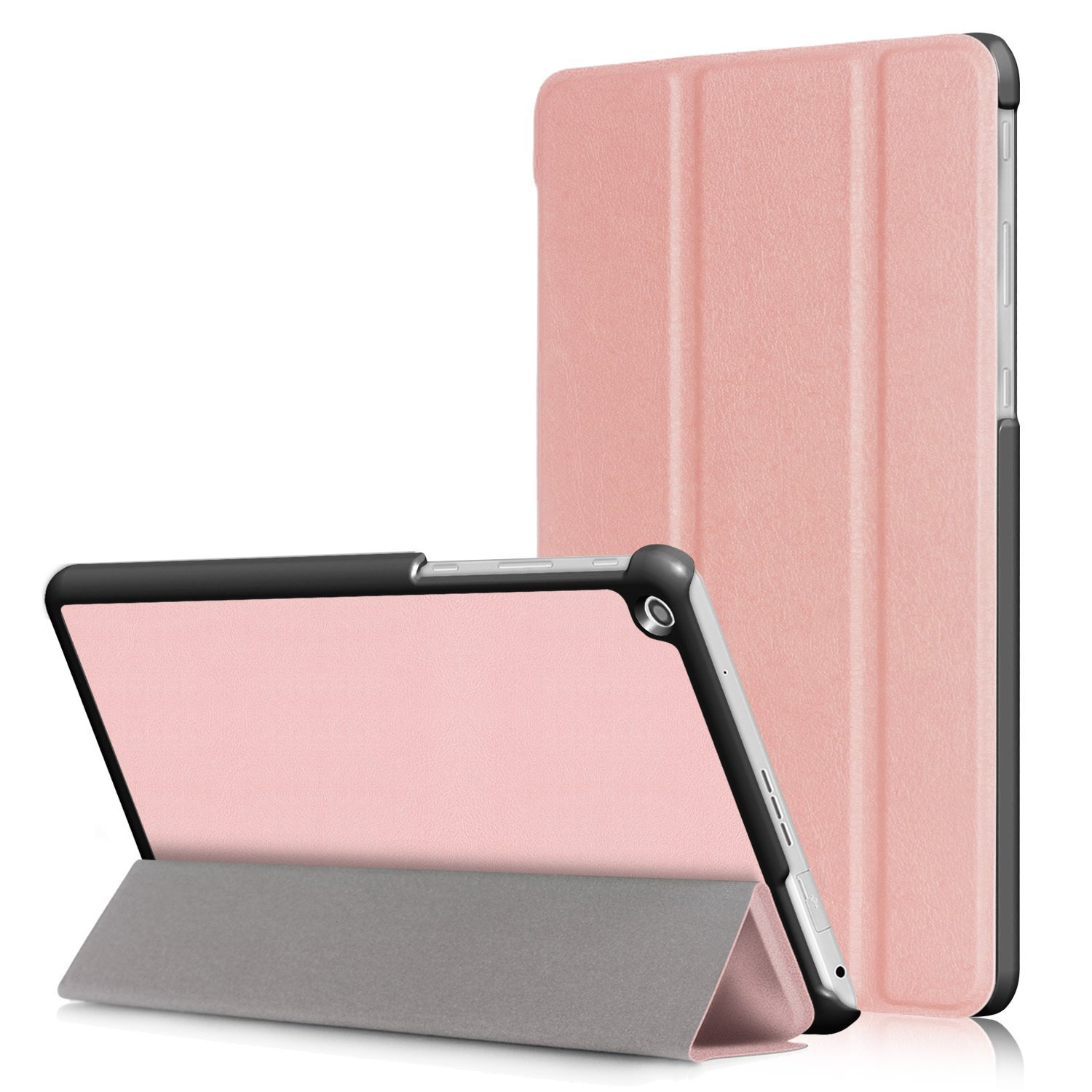 "LG G PAD 3 10.1 X760 Case, Goodest Ultra Slim Tri-Fold Magnetic PU Leather Stand Cover Hard Protector Shell Case for LG G PAD 3 10.1 X760 10.1"" Tablet, Rosegold"