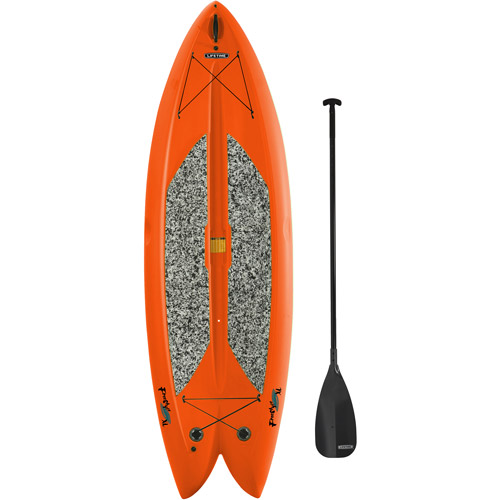 "Lifetime, 9'8"", 1-Man Freestyle XL Paddleboard, Orange, with Bonus Stand Up Paddle"
