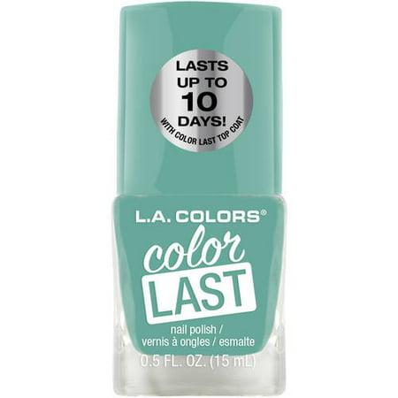 (4 Pack) L.A. Colors Color Last Nail Polish,