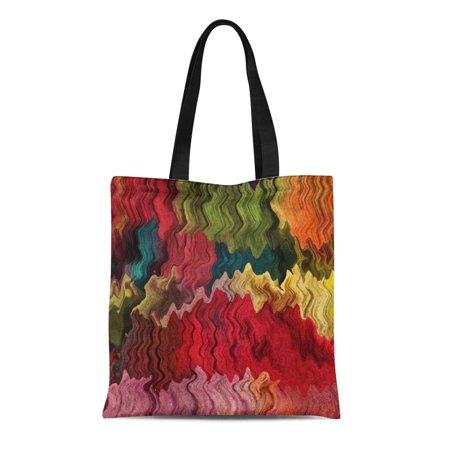 ASHLEIGH Canvas Tote Bag Colourful Colorful Abstract Fabrics Modern Color Colours Rainbows Sewing Reusable Handbag Shoulder Grocery Shopping - Fabric Totes