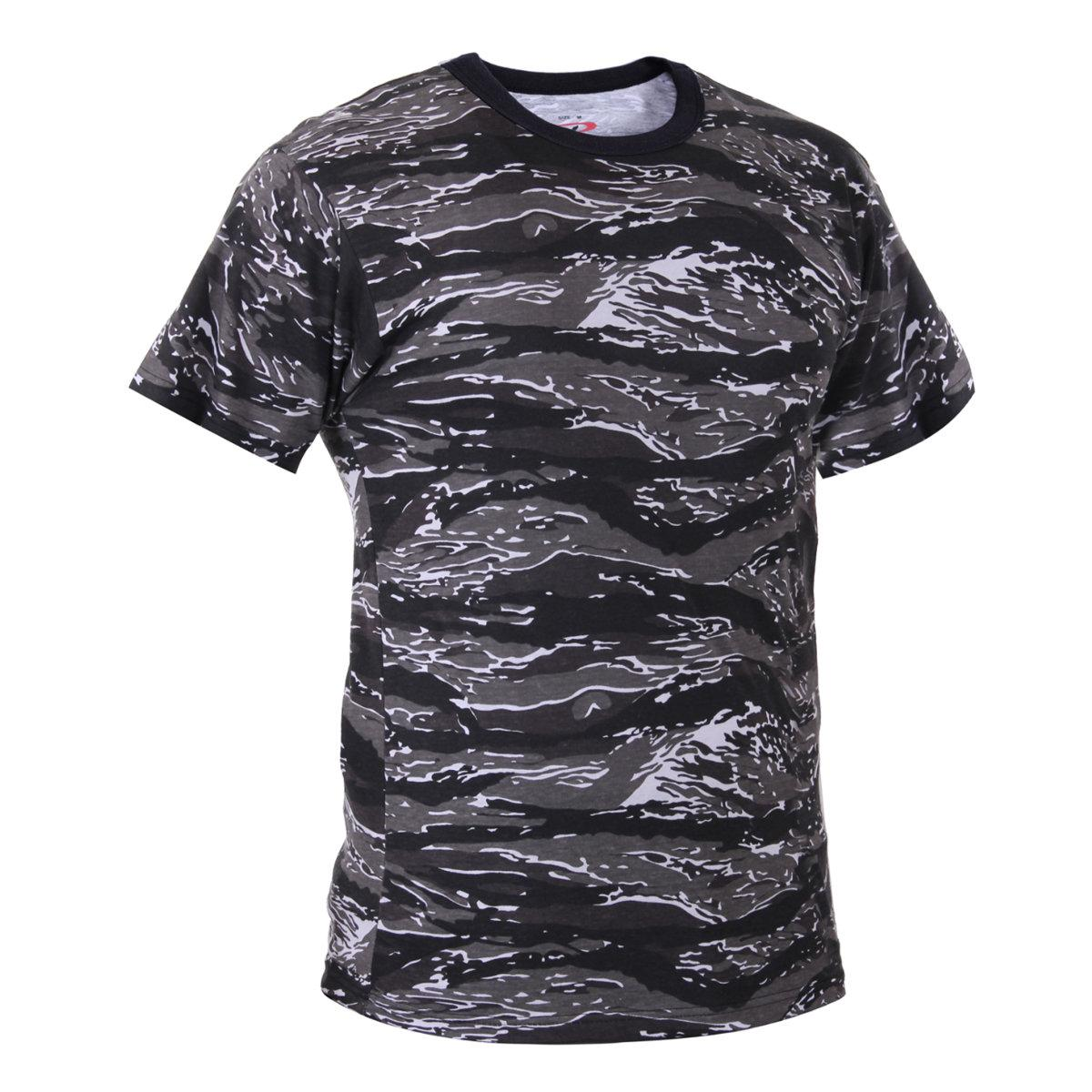 Urban Tiger Stripe Camo Camouflage T-shirt