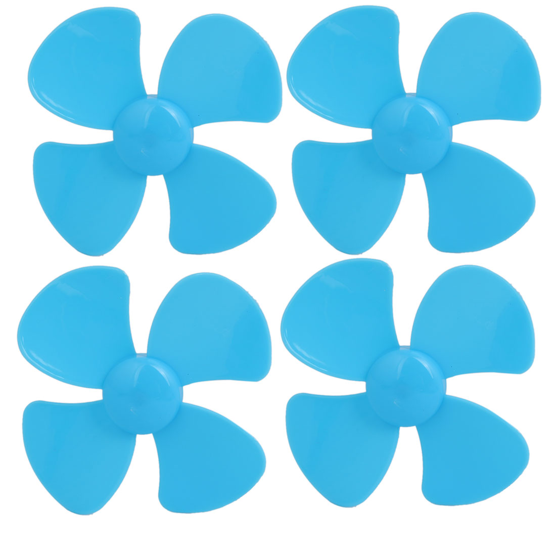 4PCS Brushless Motor 4 Vanes RC Boat Airplane Propeller 3-inch Dia Blue