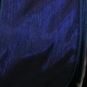 "Navy Blue Sheer Organza Wired Craft Ribbon 2"" x 27 Yards"