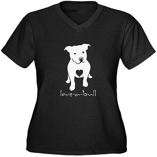 CafePress Women's Plus-Size Love-A-Bull Graphic T-shirt