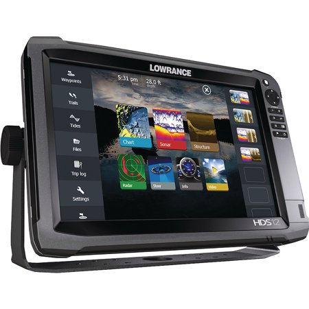 Lowrance HDS-12 Gen3 Touchscreen Fishfinder/Chartplotter with Built-in  CHIRP and Structure Scan/Insight USA 50/200 kHZ Transducer