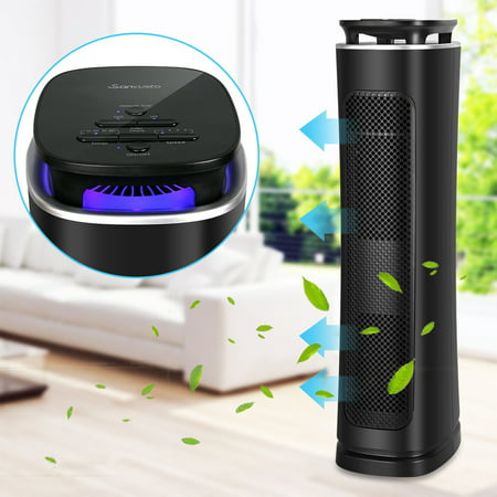 Air Purifier with True Hepa Filter, Air Purifier Odor Allergies Eliminator for Home, Smokers, Smoke, Dust, Mold and Pets, Air Cleaner with Night (Free Spirit Air Cleaner Cover)