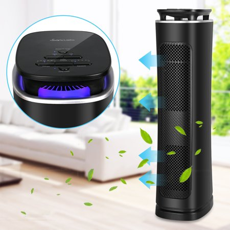 - Air Purifier with True Hepa Filter, Air Purifier Odor Allergies Eliminator for Home, Smokers, Smoke, Dust, Mold and Pets, Air Cleaner with Night Light