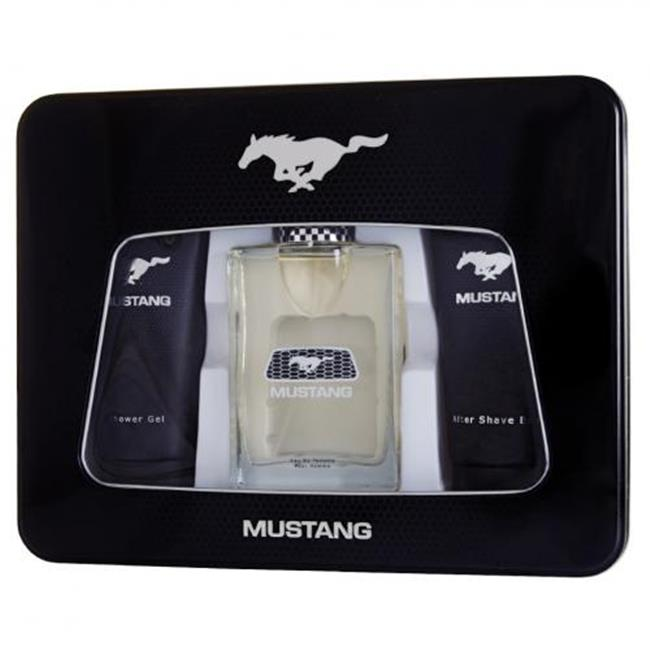 3. 4 Oz.  Mustang Eau De Toilette Spray Set, For Men, 3 Piece