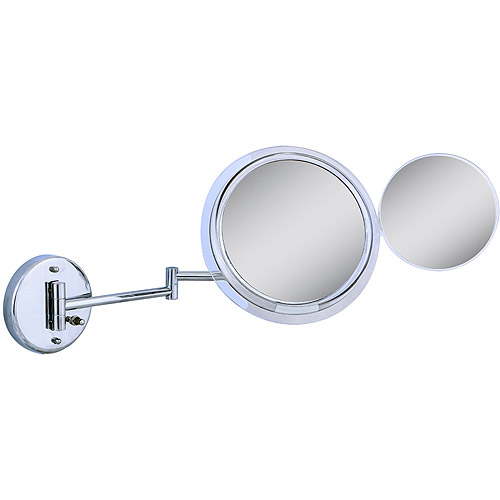 MSW37 Zadro Surround Light Wall Mount Mirror with Mini Folding Mirror & 5x & 7x Magnification