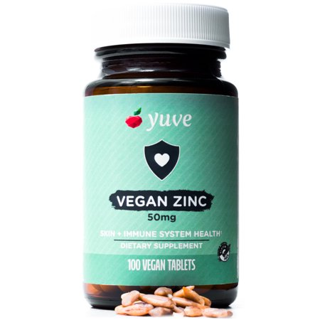 Yuve Vegan Zinc 50mg - Boosts Your Immune System - Fast Relief from Colds and Flu -