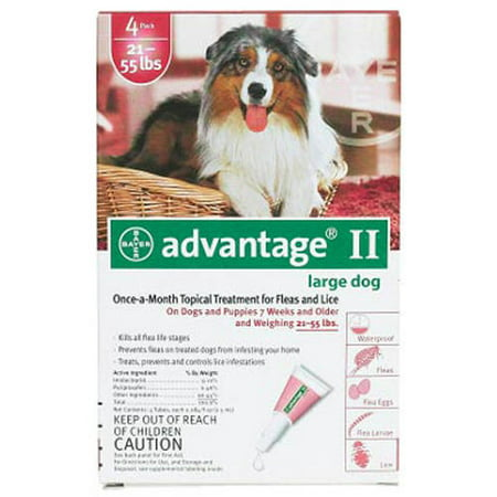 Advantage Ii Flea And Lice Topical Treatment For Dogs 21 55 Lbs  4Ct