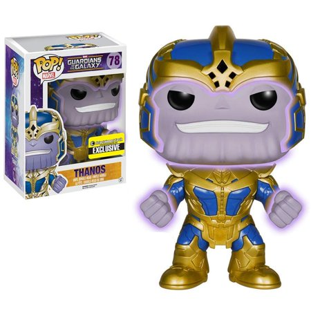 Funko POP! Marvel Thanos Vinyl Bobble Head [Super-Sized, Glow in the Dark] - Superhero Figurines