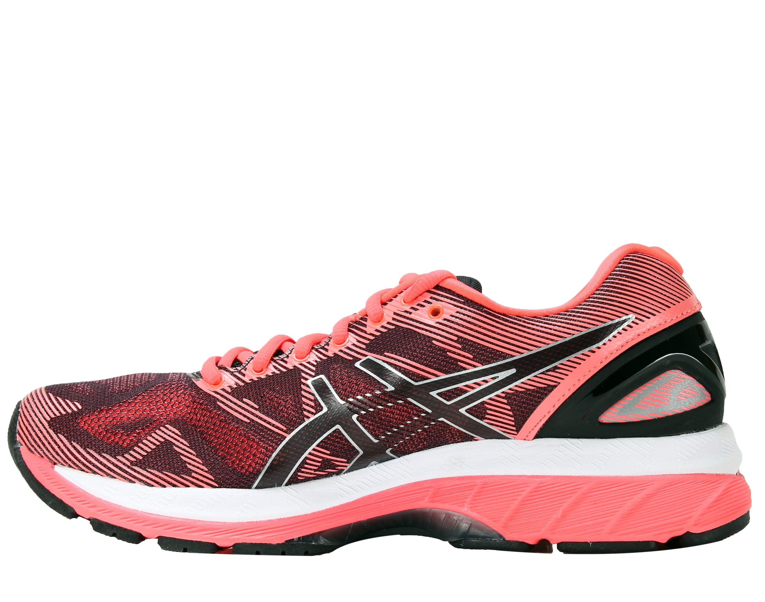 Asics Gel-Nimbus 19 Black/Silver/Diva Pink Women's Running Shoes T750N-9093  - Walmart.com