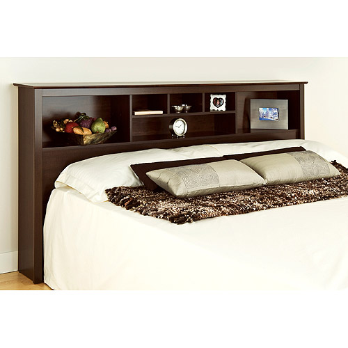 Edenvale King Storage Headboard, Espresso Prepac Furniture by Prepac