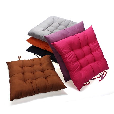 15x15inch Anti Slip Soft Square Cotton Chair Seat Cushion Pillow Mat Pads Buttocks for Kitchen Chairs Home Office Decor (Square Seal)