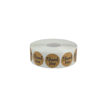 Thank You Sticker (Brown Kraft Circle Thank You Stickers, 1 Inch Round, 500 Labels on a)