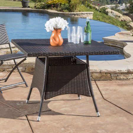 Outdoor Square Table (Ramsey Outdoor Square Wicker Dining Table, Multibrown)