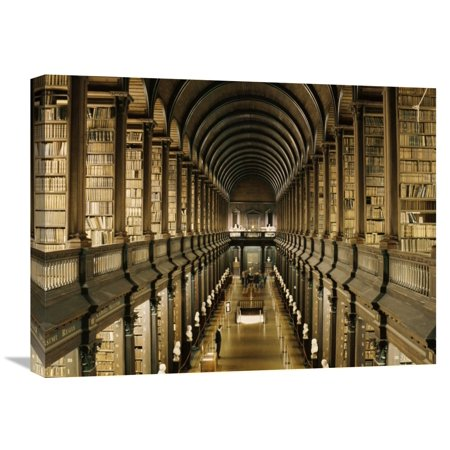Global Gallery Anonymous 'Interior of the Library, Trinity College, Dublin' Canvas Wall