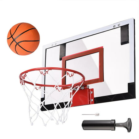 Mini Basketball Hoop 18'x12' Over-The-Door/Wall Indoor w/ Pump 5.5