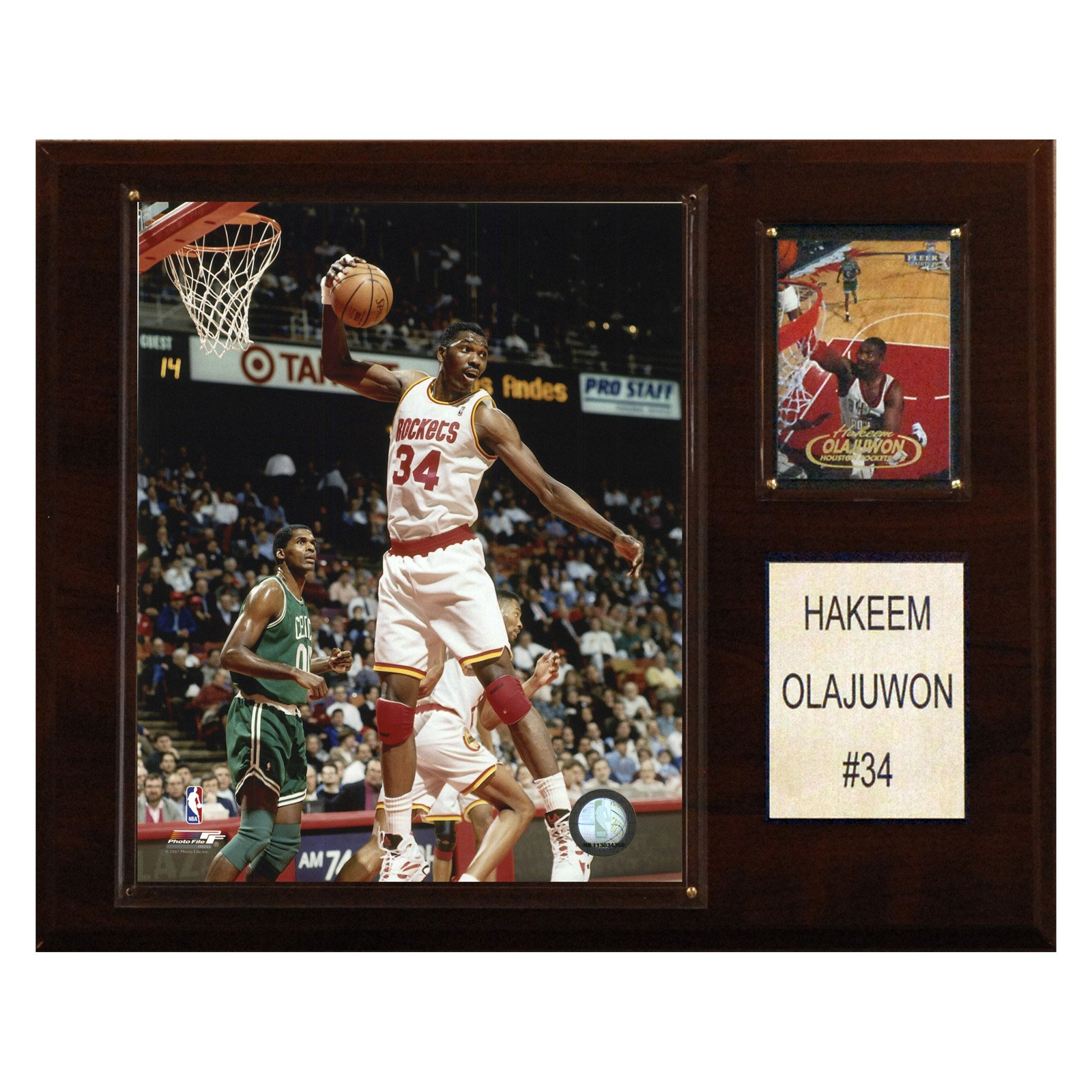 C&I Collectables NBA 12x15 Hakeem Olajuwon Houston Rockets Player Plaque